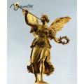 Hochwertiger Gebäudedekor-Bronzengel mit Trompetenstatue