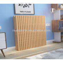 Precio de cama plegable individual de alta calidad plegable importado Pinus Sylvestris cama individual de madera