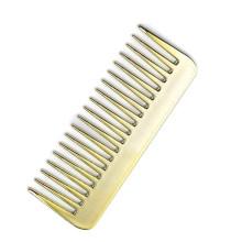 Plastic Golden Wide Tooth Comb