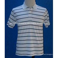Custom Logo Striped Polo Shirts