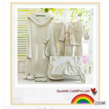 Trajes de caja de regalo de gama alta fabricante al por mayor, trajes de productos de algodón orgánico recién nacido 11pcs trajes