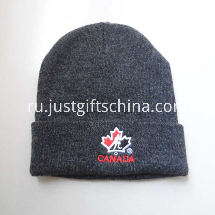 Personalized Winter Promotional Beanie Hat Embroidered Logo (2)