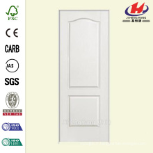 30 po x 80 po Solidoor Texture à 2 panneaux Arche Haut Solid Core Primé Composite Single Prehung Porte d'intérieur