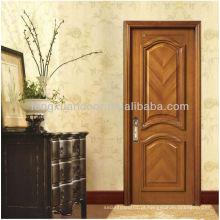 Design de painel 1/4 portas de madeira sólidas arqueadas, portas aduaneiras de fábrica