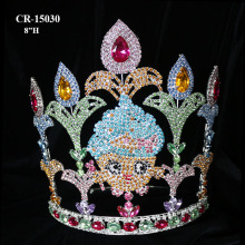 "8""Custom Rhinestone Shopkins Pageant Big Crown"