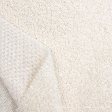 Hot Sale Polyester White Mohair Knitted Coat Fabrics