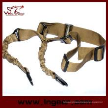 Militar Bungee cinta dois ponto corda correia gancho correia Rifle Sling