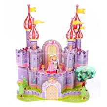 Quebra-cabeça 3D castelo roxo