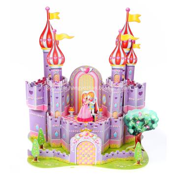 3D Purple Castle Puzzle