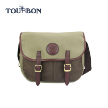 Tourbon Newest 2015 Waterproof Canvas and Genuine Leather Fly Fishing Bag/Tote Bag