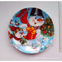 Plaque d'oeuvres en céramique de bonhomme de neige de la meilleure qualité de 2014