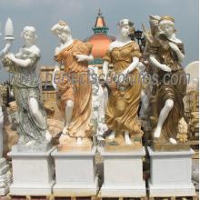 Statue en marbre de pierre Sculpture quatre saisons pour décoration de jardin (SY-C1305)