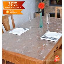 Película transparente de cristal transparente de PVC para la cubierta de la tabla