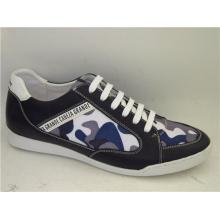 Zapatillas de deporte de cuero para hombre de patchwork para hombre (NX 509)