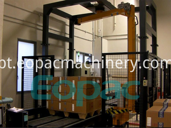 Automatic Online Rotary Arm Pallet Wrapper