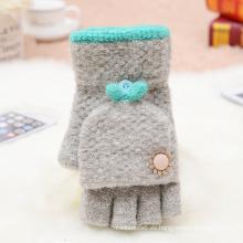 Invierno tejido Jacquard guantes de mujer al por mayor