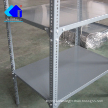 Jracking retail grocery store display rack angle steel slotted boltless rivet shelving