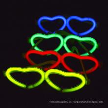 resplandor en forma de corazón gafas
