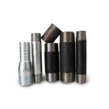 mamilos de aço carbono de rosca macho NPT de alta qualidade