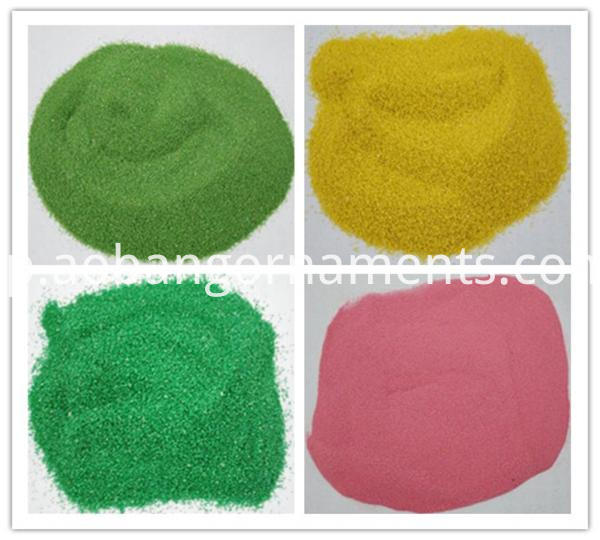 Dyed stone sand for reptile