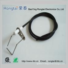 Electrode d'allumage pour barbecue au gaz