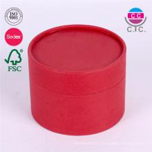 Boîtes rondes d'emballage de papier de cadeau de carton imprimé par logo fait sur commande de logo
