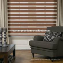 Cortinas manuais da zebra da janela interior da decoração da casa