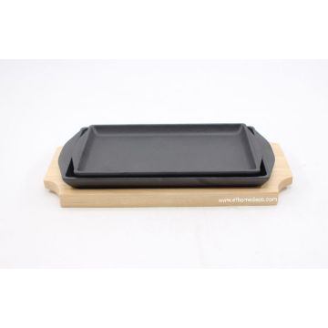 Pra-musim Cast Iron Square Fry Pan dan Griddle