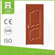 La última puerta de madera del PVC del diseño 2017 de China
