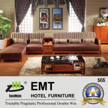 Wooden Base Stoff Material Sofa Set (6602 # -1 Sofa-Set)