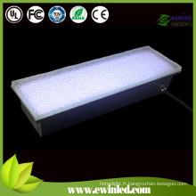 10 * 20cm verre trempé LED brique avec RGB