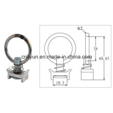 Single Stud Fitting W/Round Ring for Vehicle Transport Strap