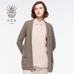 Women's shawl neck pure cashmere cardigan
