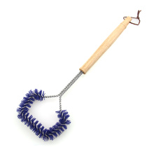 Long Rubber Handle Nylon Grill Brush