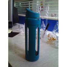 Borosilicate Glass Bottle with PP Outer and PP Lid