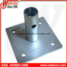 Galvanized Steel Base Plate for Scaffolding Frames Accessories