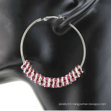 8mm Spacer DIY Basketball Wives Hoop Earrings! Shamballa Earrings BWE67