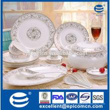 Décoration d'or élégante et de luxe Vaisselle domestique Nouvelle Chine osseuse