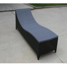 Lit de bronzage haute Chaise salon jardin rotin