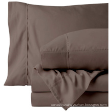 hotel textile 4 pcs 100 cotton fabric bedsheet bedding sheet bed set