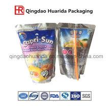 Gewohnheit druckte Soem machte unregelmäßige Frucht-Form-Plastiksaft-Getränkeverpackungs-Beutel-Tasche