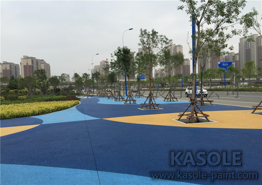 Colorful Water Permeable Concrete