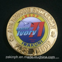 Promotional Custom Metal Coin with Center Sticker