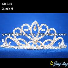 Las mujeres joyas boda Rhinestone coronas tiaras