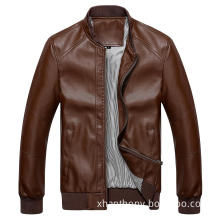 Men Fashion Bright Color Casual Leather Jacket (52360)
