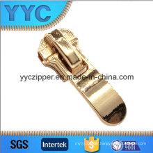 Customer Fancy Metal Slider Zipper with Golden Puller 3816