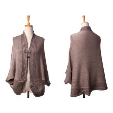 Fashionable Ladies' Acrylic Winter Fall Knitted Poncho, Various Colors are Available