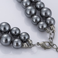 Artificial Grey Pearl Necklace Online Cheap