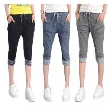 15PKPT05 2014-15 Pantalons de lin de jeans occasionnels colorés de jeans décontractés de filles