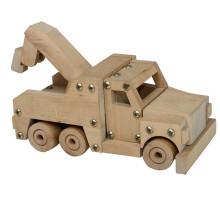 DIY assembling wooden crane truck